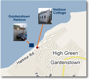 Map of Harbour Cottage - Self catering holiday accommodation in Gardenstown, Aberdeenshire, Scotland