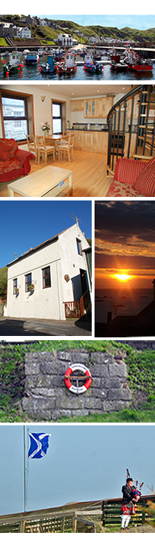 self catering accommodation in Gardenstown Scotland close to Harbour & Beach